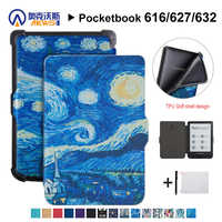 AFesar DIY Folding stand case compatible with Pocketbook 624 625 626  eReader Cover and for pocketbook Basic Touch lux good Case