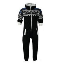 6d1d5cd8cf0d Autumn winter mens Snowflake pattern Jumpsuit Long Bibs Pants Hoodies  Harajuku Gothic Rompers Cosplay One-piece suit Overalls