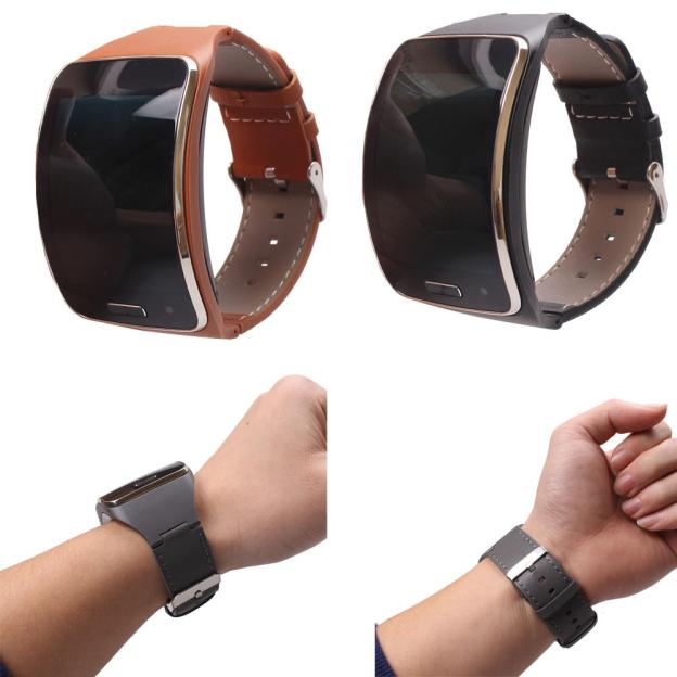Fabulous Genuine leather Watch Wrist Strap Band For Samsung Gear S SM-R750 Smart Drop Shipping 2018