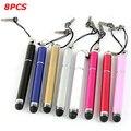 8 Шт. 3in1 Мини Емкостный Сенсорный Экран Stylus С Шариковая Ручка Для iPhone Для iPod