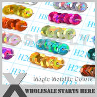 (Волшебные металлические цвета) круглый плоский или чашка Свободные блесток пайетками для вечерние платья, костюм, дизайн ногтей