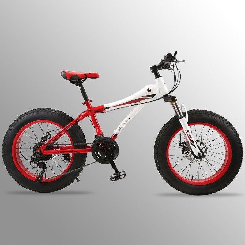 Vol Leopard vélo VTT 7/21 vitesse 2.0 X 4.0 vélo Route vélo graisse frein à disque vélo Femmes et enfants