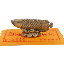 Feng Shui Wealth Arowana Luck Fish Lucky Statue Figurine Decoration