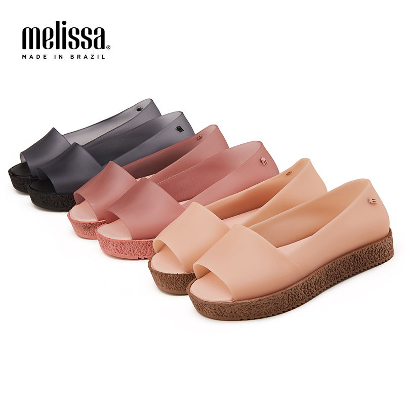 Melissa Women Sandals Beach Jelly Shoes Mulher Woman Flat Sandals Soft Mixed Candy Colors Summer Casual