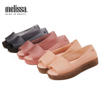 Melissa Women Sandals Beach Jelly Shoes Mulher Woman Flat Sandals Soft Mixed Candy Colors Summer Casual Slip On Sandals