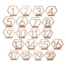10 unidades 1-10/11-20 Número de mesa de madera conjunto de números con Base cumpleaños decoración del banquete de boda regalos