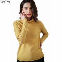 Sweater Female Cashmere Red Gray Long Sleeve Turtleneck Jumper Shirt Knitted Cashmere Wool Winter Spring Jacket Women Jersey