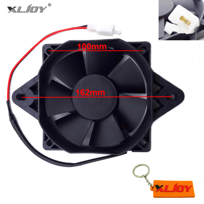 XLJOY Electric ATV Radiator Cooling Fan For Chinese 200cc 250cc Quad ATV Go Kart Buggy 4 Wheeler Motocross Motorcycle-in Engine Cooling & Accessories from Automobiles & Motorcycles