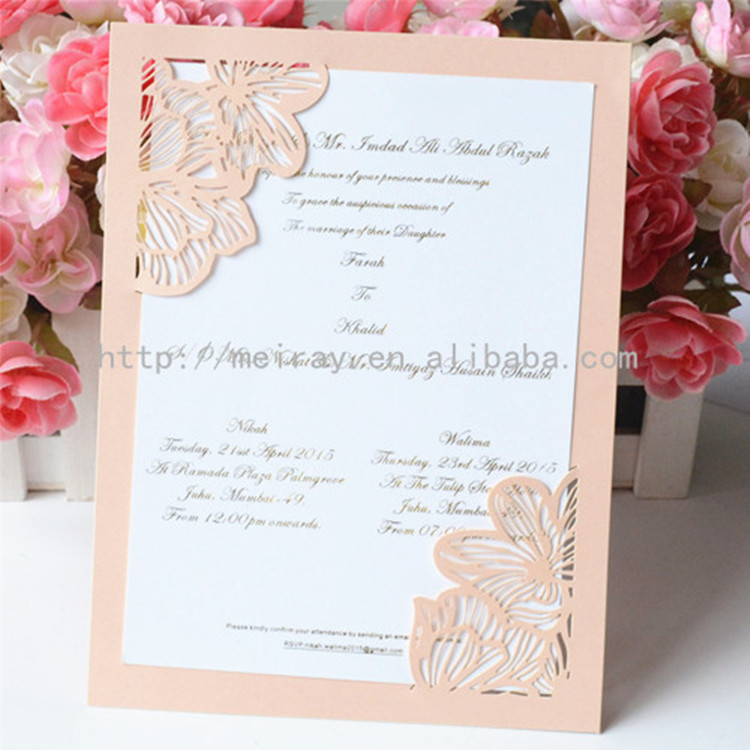 Us 23 0 Latest Wedding Card Designs Beautiful Laser Cut Invitation In Cards Invitations From Home Garden On Aliexpress