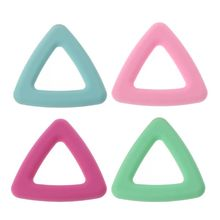 Food Grade Silicone Baby Teethers Pendant Necklace Accessory BPA Free Chew Toys 4 Colors