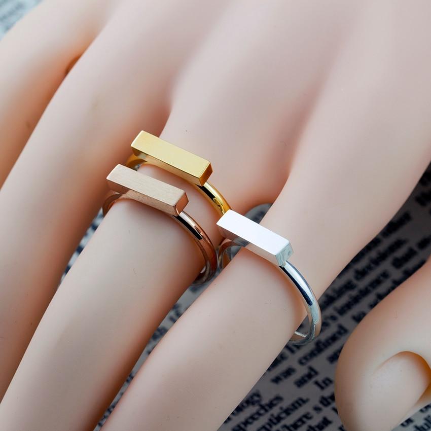 2017 New BFF Minimal Thin Cubic Bar Rings For Women Boho - Κοσμήματα μόδας - Φωτογραφία 6