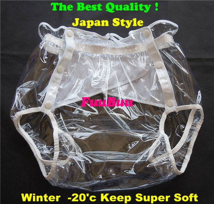 Free Shipping FUUBUU2219-transparent-XXL-1PCS Adult Diapers Non Disposable Diaper Couche Adulte Pvc Shorts Diapers For Adults