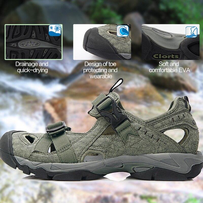 Clorts Aqua Shoes Men Summer Beach Shoes PU Water Sandals Mens Water Shoes SD 206C D