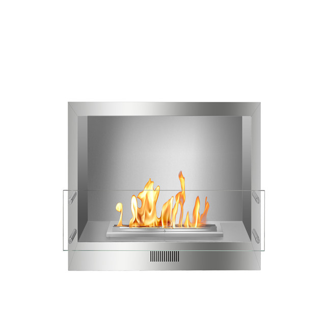 1m Intelligent Smart Remote Controlled Ethanol Stainless Steel Fireplace Frame