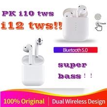 Original i12 air TWS sans fil Bluetooth 5.0 super stéréo basse mini oreille bourgeon pour toutes les cellules apple PK i13 i10 XY pods i16 i15 i11 tws