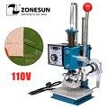 ZONESUN 5x7 8x10 10x13 см 110 В Maunal машина для штамповки горячего тиснения бумаги  дерева  кожи  логотипа  машина 150 Вт теплового пресса