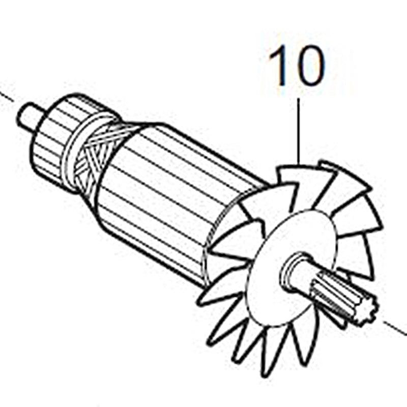 ARMATURA 220 V Rotore 516853-2 Sostituire Per Makita LC1230ARMATURA 220 V Rotore 516853-2 Sostituire Per Makita LC1230