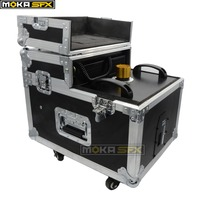 Free Shipping Smoke Machine 600W Haze Machine Flight Case Packing Dual Hazer Machine Fog Smoke Machine Stage Effect