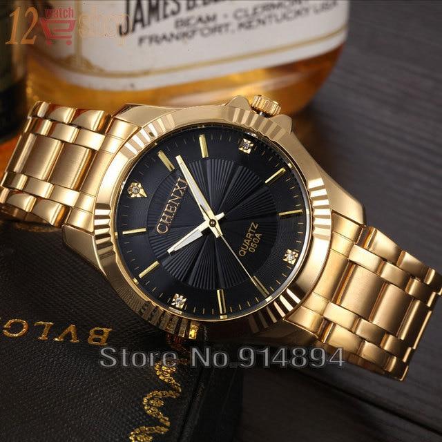 Gold Stainless Steel Quartz-Watch Wrist Watch 4
