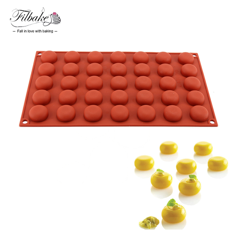 FILBAKE Handmade Silicone 35 Even Little Round Tart Style Chocolate Molds Baking Moulds Cake Decorating Accessories Tools