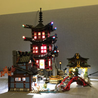 LED Light Up Kit Only Light Included For Lego Ninjago 70751 And LEPIN 06022 Ninja TEMPLE