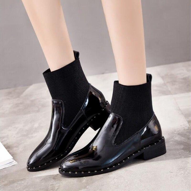 Nouveau décontracté femmes bottes automne hiver en cuir véritable mode femmes chaussons vendre bien classique noir confortable chaussures souples