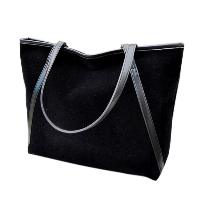 Simple Winter Large Capacity Women Handbag Suede Top-handle Bag Shoulder Bag Tote Ladies Purse Casual Bag Dropshipping #T