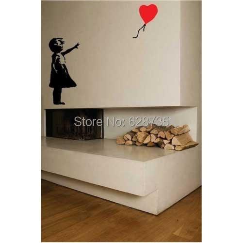 ... Banksy Wall Decal, Balloon Girl Inspired U2013 Banksy Vinyl Wall Art  Sticker ,free Shipping ...