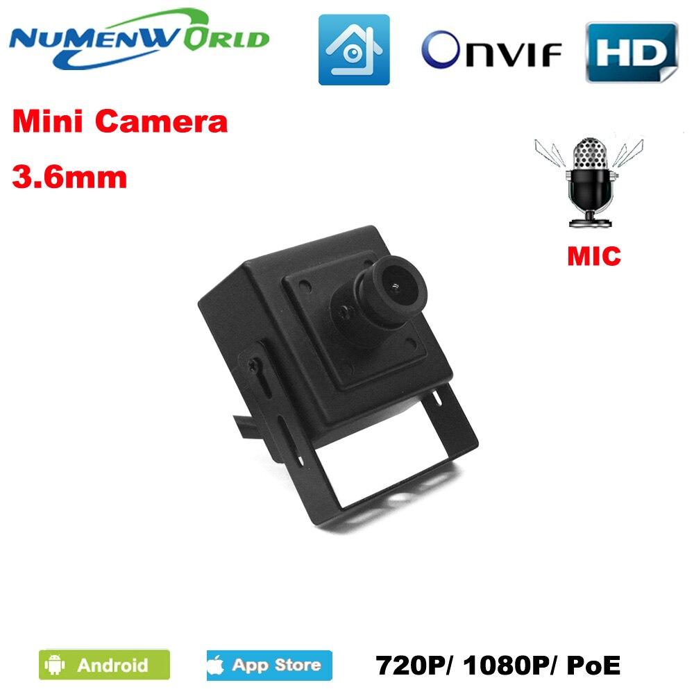 Buen Mini cámara IP 720 p/1080 p HD webcam de vigilancia CCTV Video cámara de ONVIF P2P detección de movimiento interior POE opcional