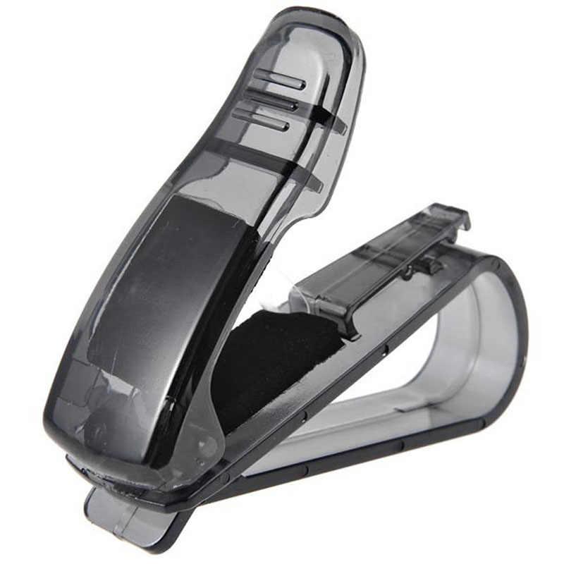 Mobil Styling Mobil Sun Kacamata untuk Penerimaan Kartu Klip Penyimpanan Pemegang Mobil Hitam