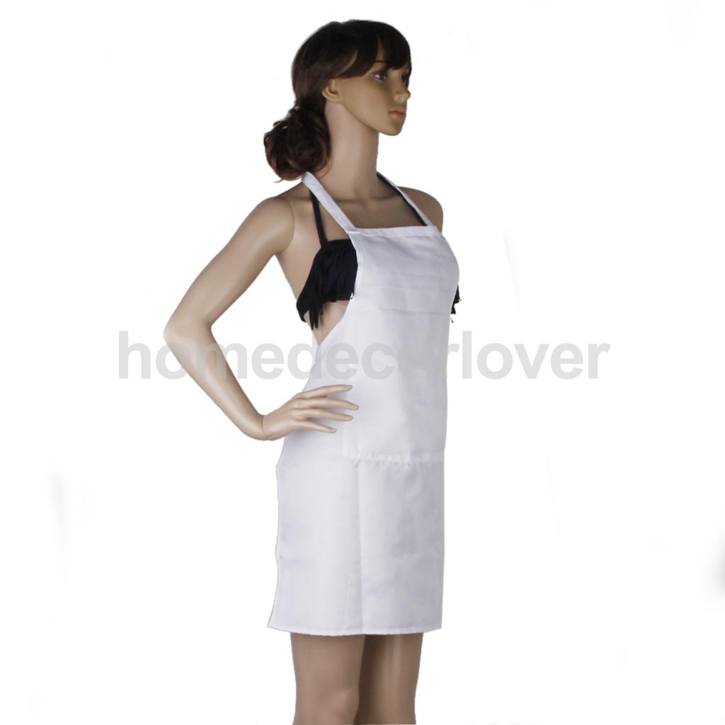 White apron wrapped apron cooking kitchen cotton apron women -in ...