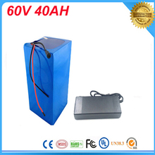 60V 3000w ebike Lithium battery 60v 40ah li-ion battery pack,e-bike battery 60V electric bicycle battery with Charger and bms