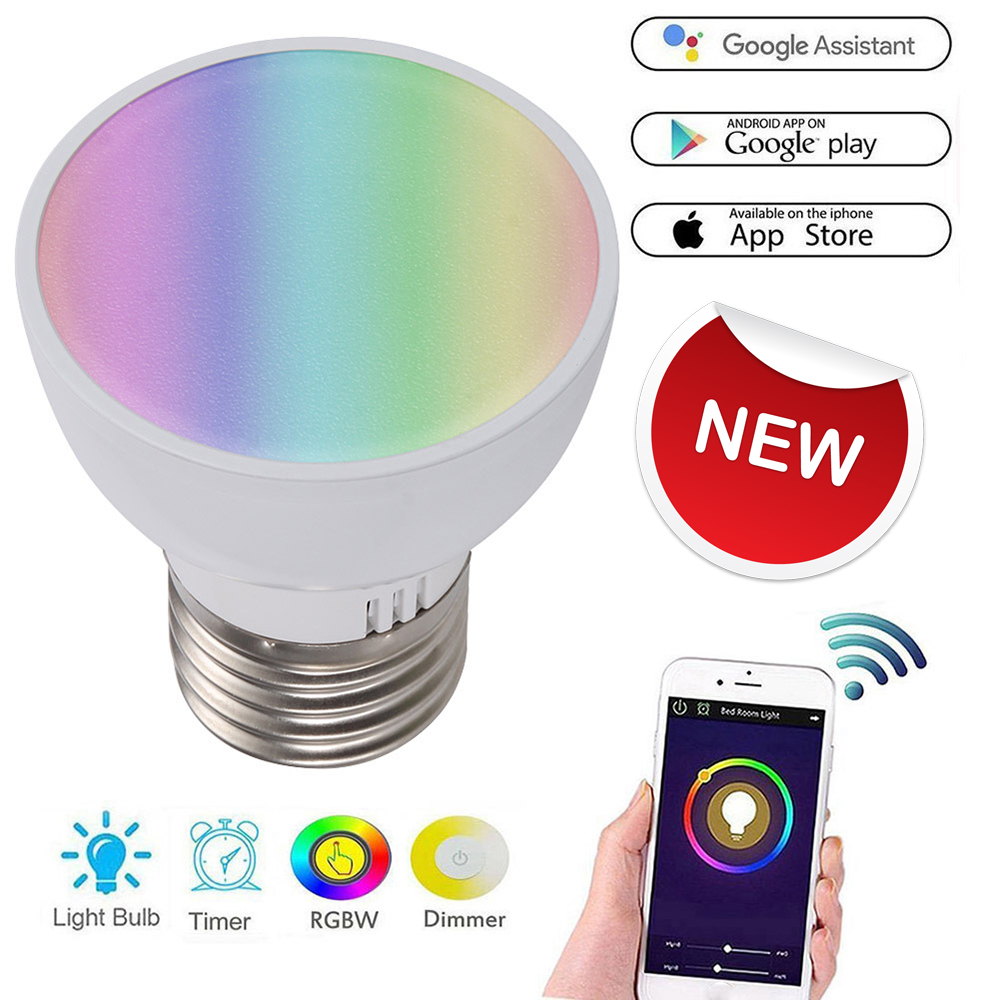 Sweet-Tempered Wifi Smart Light Bulb Gu10/e27/gu5.3 Rgbw 6w Led Dimmable Light Cup Compatible With Alexa&google Home Remote Light Bulb Buy One Give One Consumer Electronics Smart Remote Control