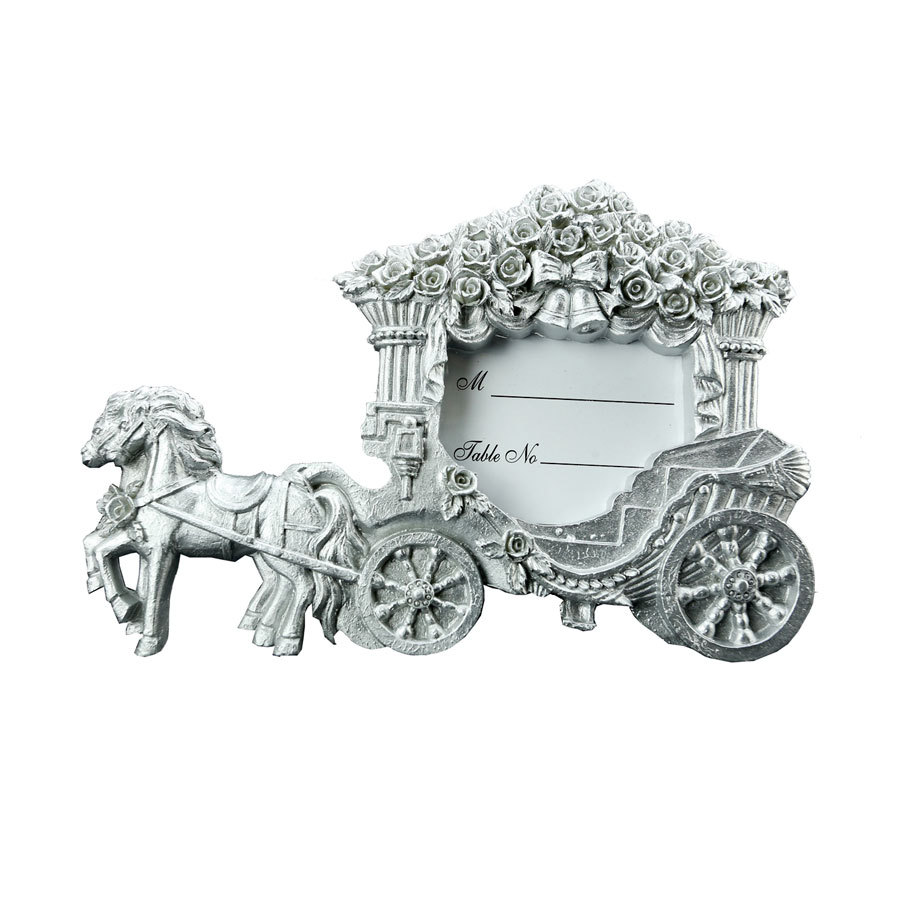 Newly Cinderella Resin silver Carriage Wedding Place Card Holder ...