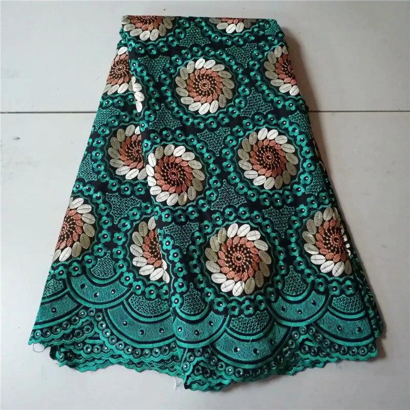 2019 nouveau Design africain dentelle sèche haute qualité coton tissus dentelle tissu suisse Voile dentelle pierres en suisse PL063101