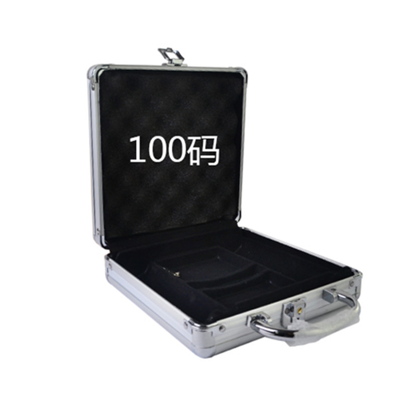 все цены на Wholesale retail high-grade professional aluminum chip boxes 100 code yard chips poker coin carrying case