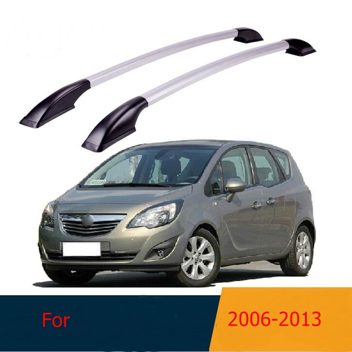 Roof Rack Boxes Side Rails Bars Luggage Carrier A Set For Opel Merina 2006-2013 2007 2008 2009 2010 2011 2012 montfrod for honda cr v crv 2007 2008 2009 2010 2011 aluminium alloy car roof rack side rails bars outdoor travel luggage 2pcs