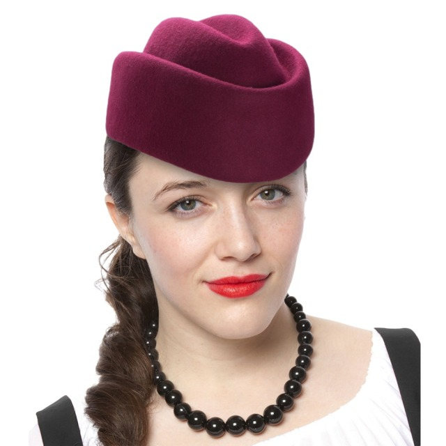 Winter Women Beret Hats Solid Fascinators Hats Boat Wool Pillbox Hat  Stewardess Air Hostesses Millinery Hat Base Ladies Fedoras 19491649165