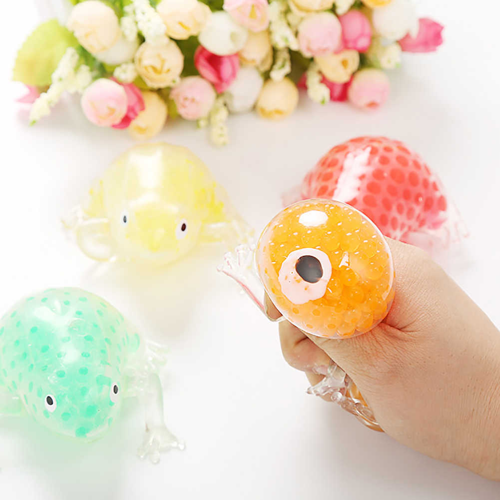 מוצק צבע מיני צפרדע מים חרוז Squishies מלא לסחוט צעצוע Antistress כדור קוצני לקשקש חושי ילדים מבוגרים צעצועים לילדים