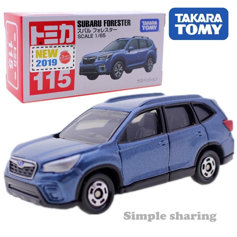 Takara Tomy Tomica #115 Subaru Forester 1/65 Diecast Brinquedo Mini Carro Azul Escuro