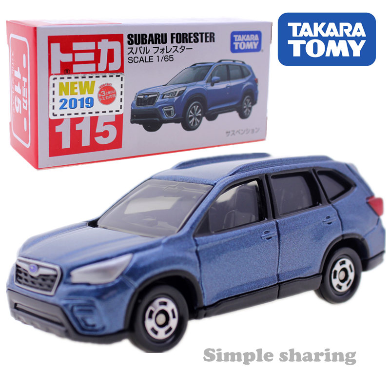 Takara Tomy Tomica No.115 Subaru Forester Model Kit 1/65 Diecast Miniature Car Toy Hot Pop Kids Bauble Funny Magic Child Puppet