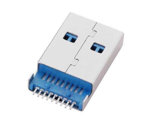 5 шт./лот USB 3,0 Тип-мужчина 9 Pin SMT SMD 2 Pin DIP печатной платы установки разъем