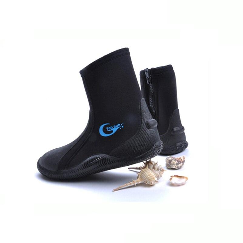 5mm Anti Slip Néoprène Plongée sous-marine Bottes Résistant À la Perforation Froid Preuve Garder Au Chaud Chaussures Plage Snorkeling Plongée Palmes De Natation