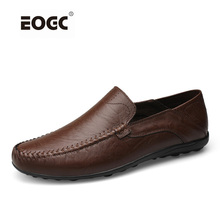 Купить с кэшбэком Men genuine leather flat shoes,Plus size loafers for man,Handmade men shoes,Soft leather Moccasins zapatos hombre