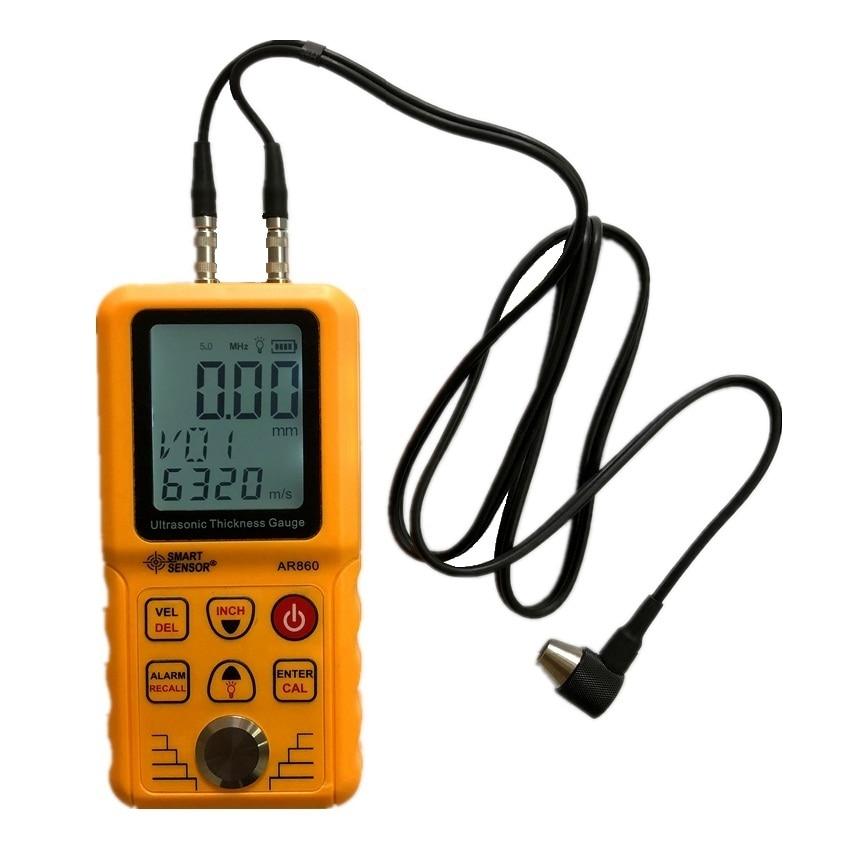 Smart Sensor AR860 Ultrasonic Thickness Gauge Meter Metal thickness instrument Range 5MHz 1 9999m s 1