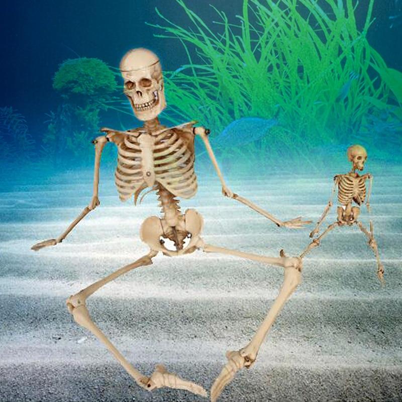 1бр. Аквариум човешки скелет смола риба резервоар череп скелет смола украшение рептилия резервоар риба резервоар аквариум декорация