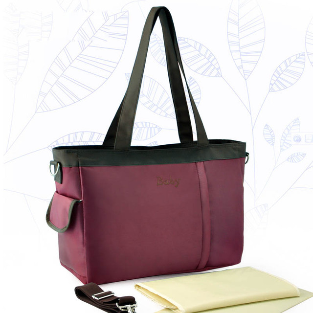Insular bebé bolsa de mamá bolsa de maternidad de gran capacidad de recorrido al aire libre a prueba de agua bolsa de pañales con accesorios