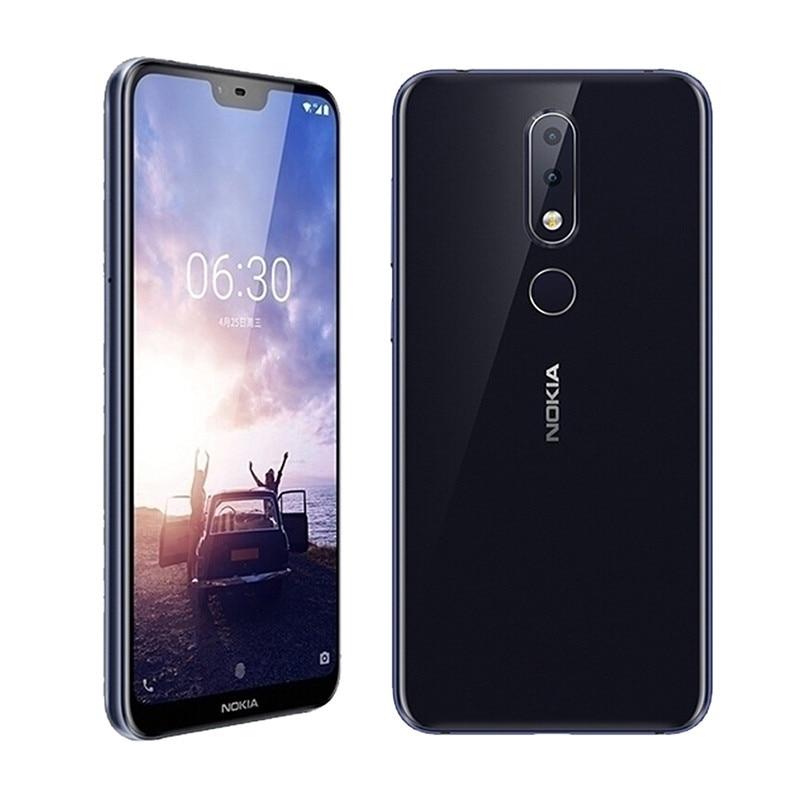 "Smartphone Nokia X6 5.8"" 3060mAh Snapdragon 636 Octa Core Dual Rear Camera 16.0MP+5.0MP Android Fingerprint ID Mobile Phone"