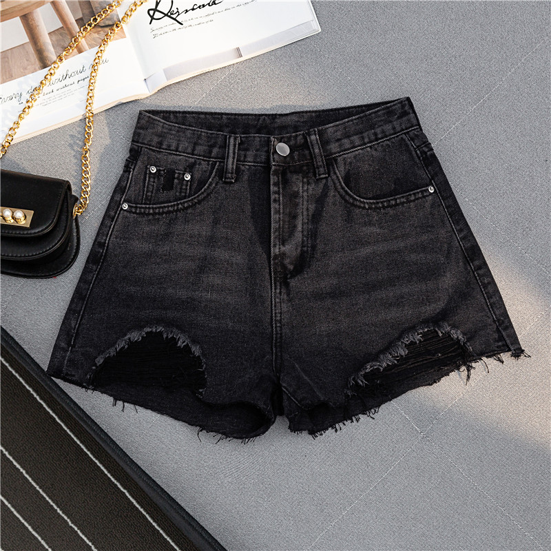 Useful New Arrival Casual Summer 2019 Hot Sale Denim Women Shorts High Waists A-lined Leg-openings Black Sexy Short Jeans Women's Clothing