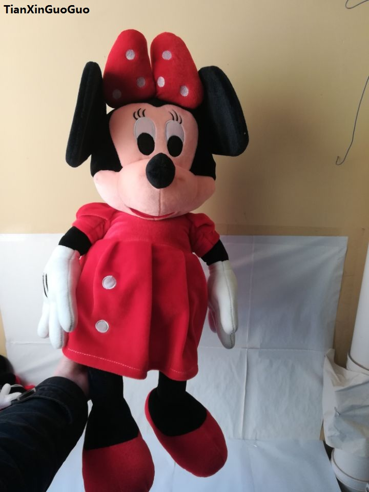 movie&TV character red skirt minnie mouse plush toy large 65cm soft doll throw pillow birthday gift w1877